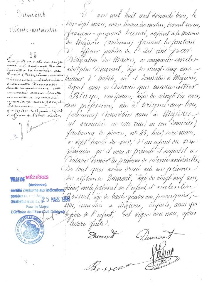 document 4 - Demande Acte De Mariage Nante